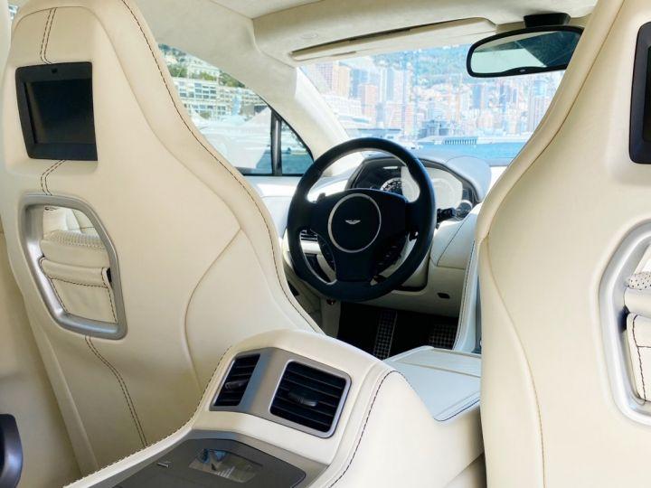Aston Martin Rapide V12 6.0 S 558 CV - MONACO Blanc  - 13