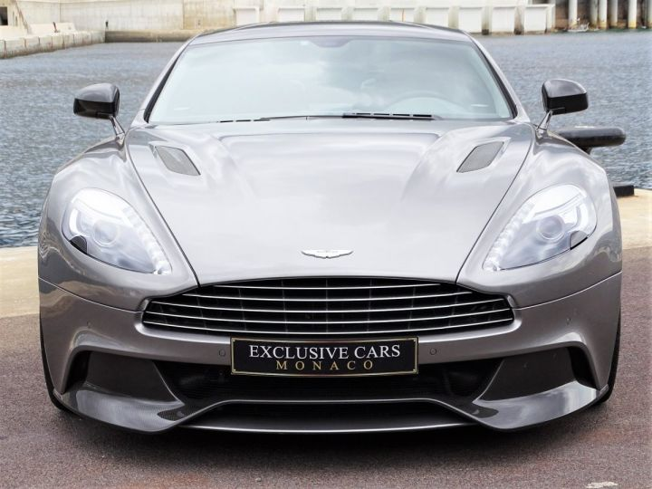 Aston Martin Vanquish V12 TOUCHTRONIC 573 CV COUPE - MONACO Tungsten Silver Metal - 2