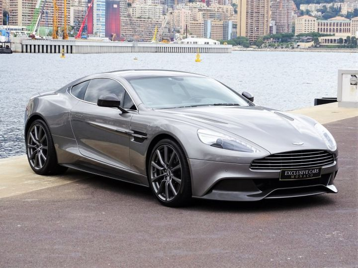 Aston Martin Vanquish V12 TOUCHTRONIC 573 CV COUPE - MONACO Tungsten Silver Metal - 3