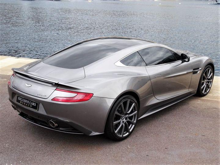 Aston Martin Vanquish V12 TOUCHTRONIC 573 CV COUPE - MONACO Tungsten Silver Metal - 5