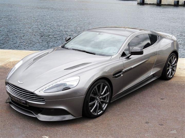 Aston Martin Vanquish V12 TOUCHTRONIC 573 CV COUPE - MONACO Tungsten Silver Metal - 15