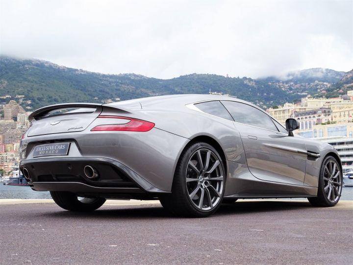 Aston Martin Vanquish V12 TOUCHTRONIC 573 CV COUPE - MONACO Tungsten Silver Metal - 16