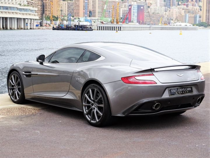 Aston Martin Vanquish V12 TOUCHTRONIC 573 CV COUPE - MONACO Tungsten Silver Metal - 17