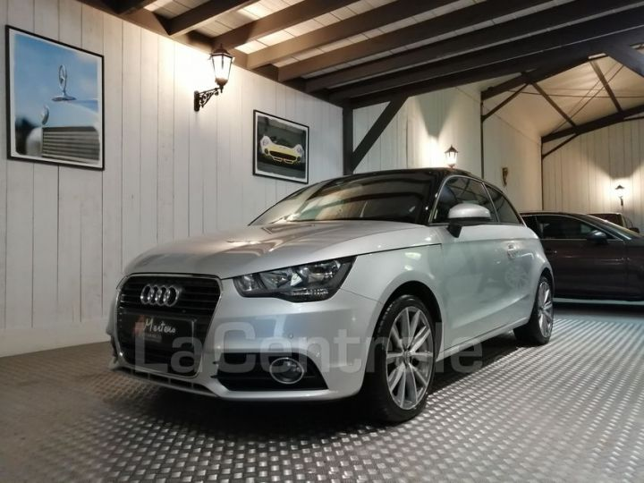 Audi A1 1.6 TDI 90 AMBITION LUXE S TRONIC gris metal - 1