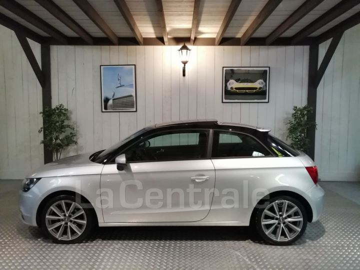 Audi A1 1.6 TDI 90 AMBITION LUXE S TRONIC gris metal - 2