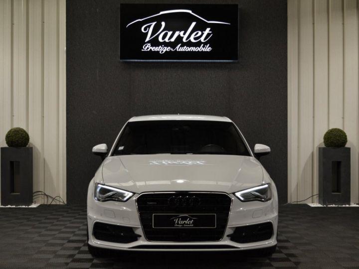 Audi A3 8v 1.8 tfsi 180ch quattro stronic sline plus 1ere main acc camera attelage rotor +++ BLANC GLACIER - 2