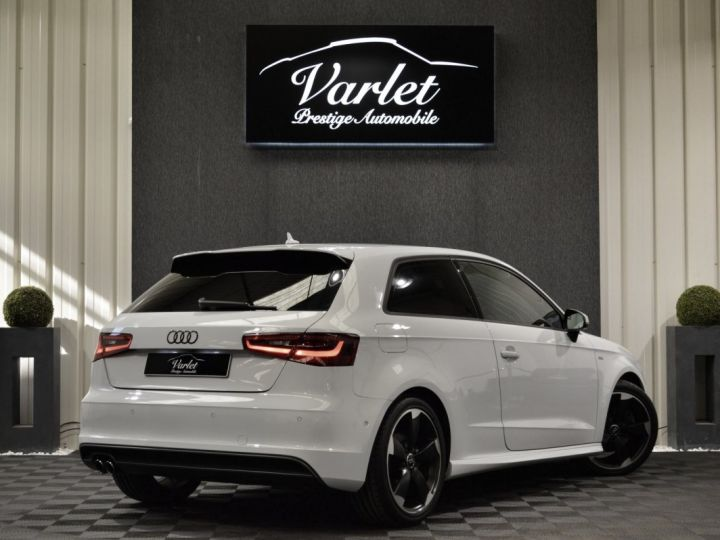Audi A3 8v 1.8 tfsi 180ch quattro stronic sline plus 1ere main acc camera attelage rotor +++ BLANC GLACIER - 4