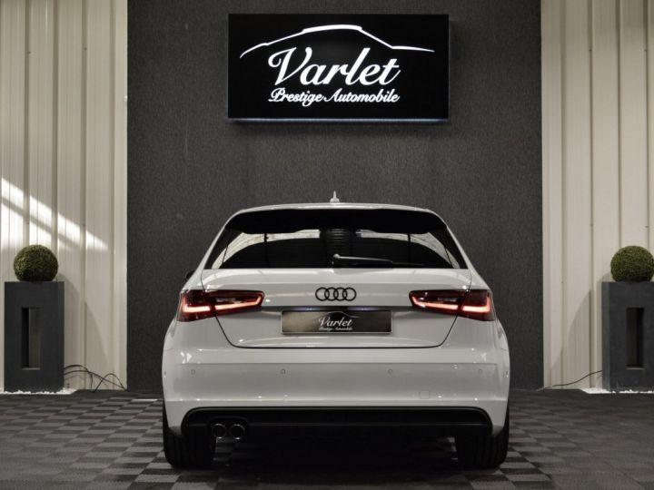 Audi A3 8v 1.8 tfsi 180ch quattro stronic sline plus 1ere main acc camera attelage rotor +++ BLANC GLACIER - 5