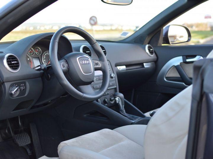 Audi A3 Cabriolet AUDI A3 1.8 TFSI 160CH STRONIC 7 CABRIOLET 1ère main CUIR ALCANTARA EXCELLENT ÉTAT 30000KMS GRIS FONCE - 7
