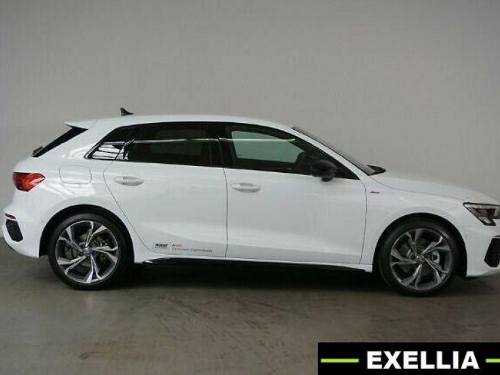 Audi A3 Sportback 35 TDI S Line S Tronic BLANC PEINTURE METALISE  Occasion - 4