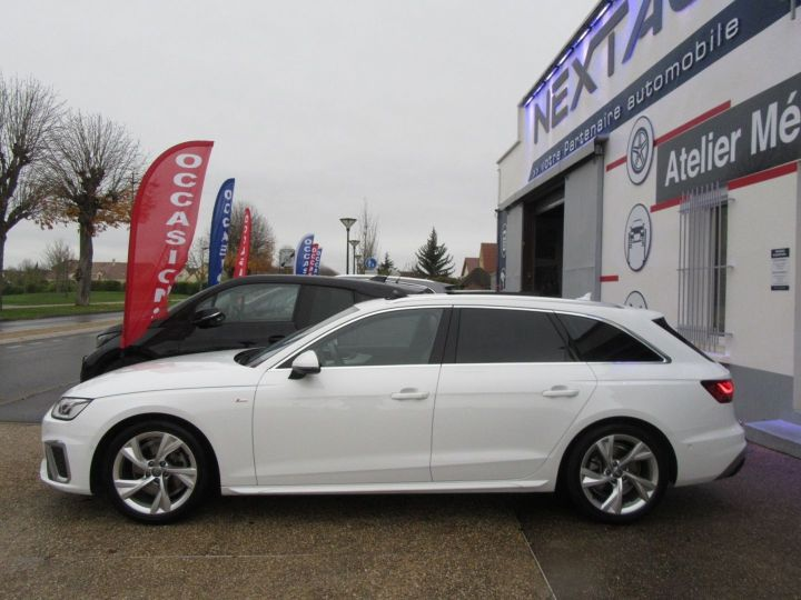 Audi A4 Avant 35 TDI 163CH S LINE S TRONIC 7 94G Blanc Occasion - 5