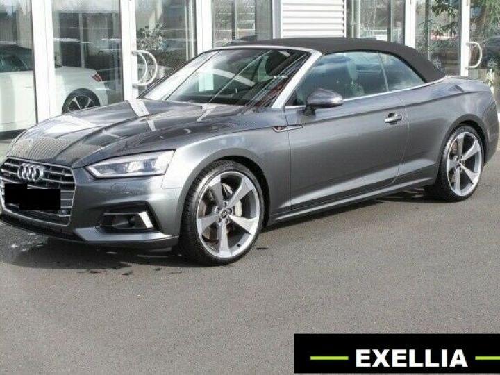 Audi A5 CABRIOLET 3.0 TDI 286 QUATTRO TIPTRO S LINE  GRIS Occasion - 1