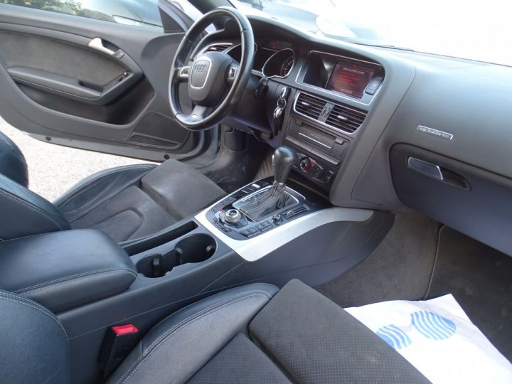 Audi A5 Coupe 3.0 V6 TDI 240 DPF QUATTRO S LINE S TRONIC/Véhicule Français  gris métallisé - 10