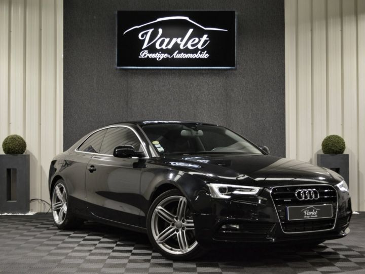 Audi A5 coupe restyle 3.0 v6 tdi 245ch ambition luxe stronic historique complet orig. France NOIR - 1
