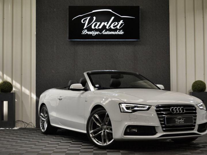 Audi A5 Superbe cabriolet 3.0 tdi v6 245ch quattro stronic sline plus 1ere main 20 camera attelage BLANC GLACIER - 1