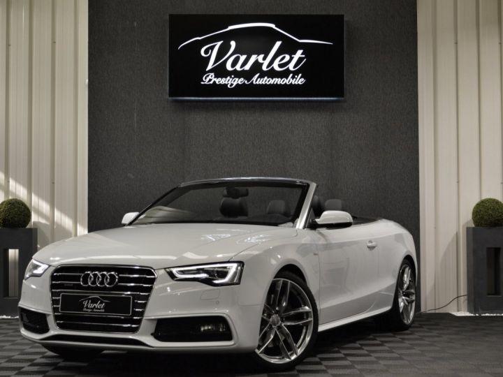 Audi A5 Superbe cabriolet 3.0 tdi v6 245ch quattro stronic sline plus 1ere main 20 camera attelage BLANC GLACIER - 3