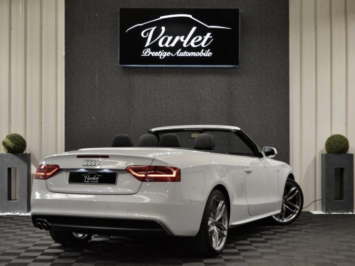 Audi A5 Superbe cabriolet 3.0 tdi v6 245ch quattro stronic sline plus 1ere main 20 camera attelage BLANC GLACIER - 4