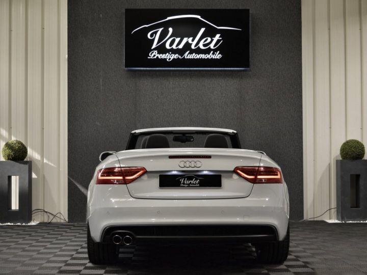 Audi A5 Superbe cabriolet 3.0 tdi v6 245ch quattro stronic sline plus 1ere main 20 camera attelage BLANC GLACIER - 5