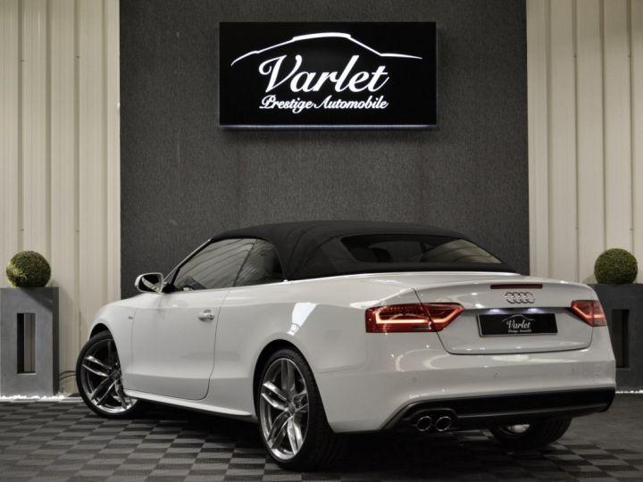 Audi A5 Superbe cabriolet 3.0 tdi v6 245ch quattro stronic sline plus 1ere main 20 camera attelage BLANC GLACIER - 6