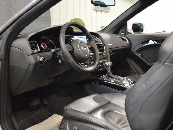 Audi A5 Superbe cabriolet 3.0 tdi v6 245ch quattro stronic sline plus 1ere main 20 camera attelage BLANC GLACIER - 7