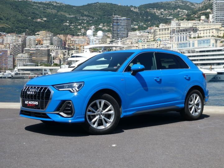 Audi Q3 35 TFSI 150 S-line S-tronic Bleu Turbo Occasion - 3