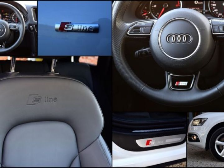 Audi Q5 3.0 V6 TDI 258CH CLEAN DIESEL S LINE QUATTRO S TRONIC 7 BLANC Occasion - 9