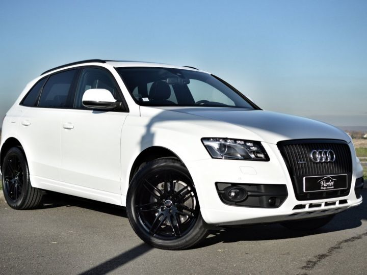 Audi Q5 MAGNIFIQUE AUDI Q5 3.0 V6 TDI QUATTRO 240ch STRONIC full options AVUS EXCLUSIVE 1ERE MAIN FBLS KMS BLANC IBIS - 1