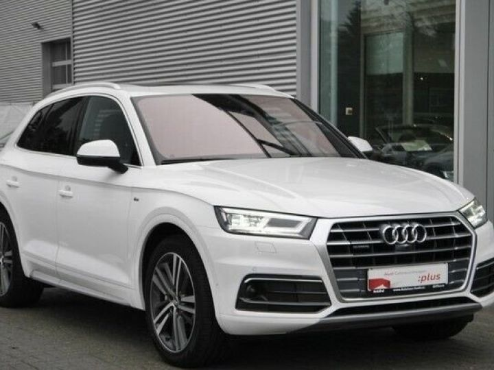 Audi Q5 quattro s line blanc - 1