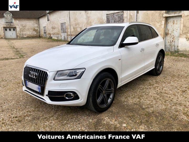 Audi Q5 S Line Deriv VP, TVA Recup, pas TVS, Toit pano Blanc Ibis Metal Occasion - 1