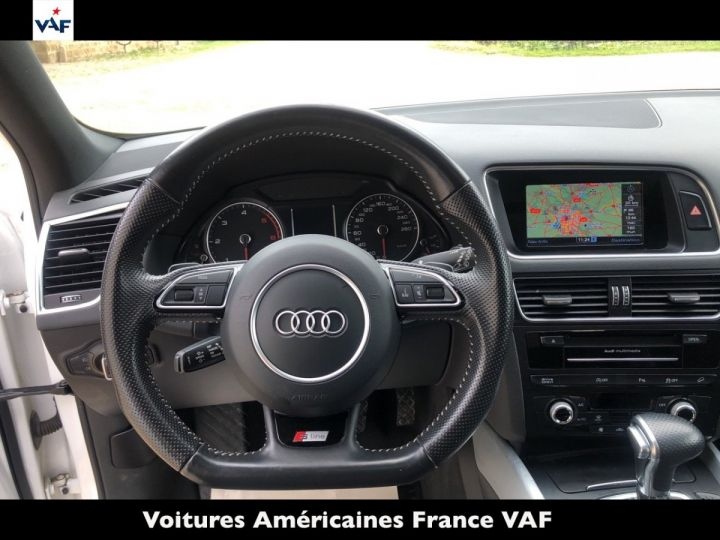Audi Q5 S Line Deriv VP, TVA Recup, pas TVS, Toit pano Blanc Ibis Metal Occasion - 7