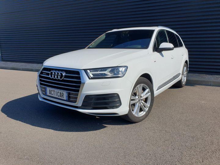 Audi Q7 2 ii v6 tdi 3.0 272 s line tiptronic 7 pl Blanc Occasion - 1