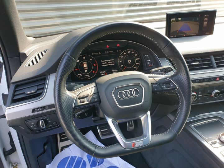 Audi Q7 2 ii v6 tdi 3.0 272 s line tiptronic 7 pl Blanc Occasion - 17
