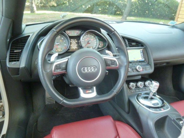 Audi R8 Spyder 4.2 V8 STRONIC 430 BLANC - 12