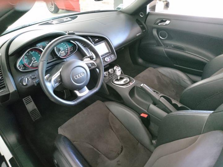 Audi R8 Spyder 5.2 V10 FSI 525 CV QUATTRO BVA Blanc - 5