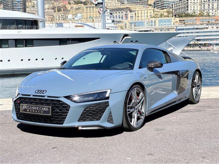 Audi R8 V10 PERFORMANCE COUPE 5.2 FSI QUATTRO 620 CV - FULL CARBONE - MONACO Gris Kemora Métal - 1