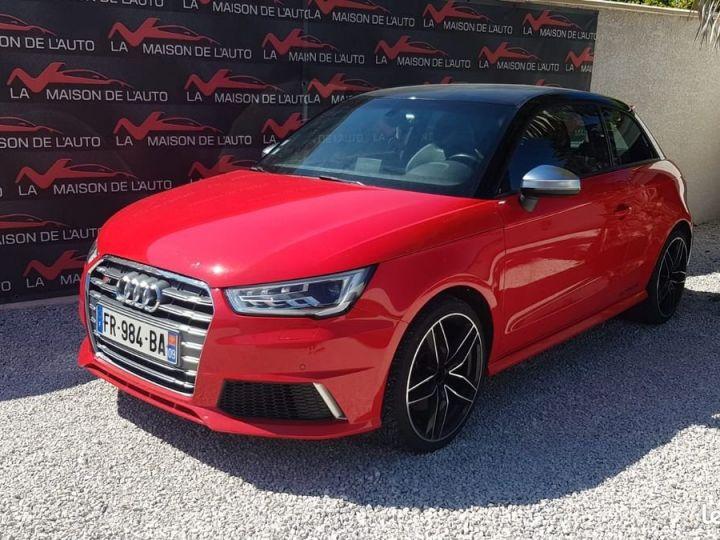 Audi S1  2.0 TFSI 231ch * FRANCAISE * EXCELLENT ETAT * GARANTIE Rouge et Noir  - 1
