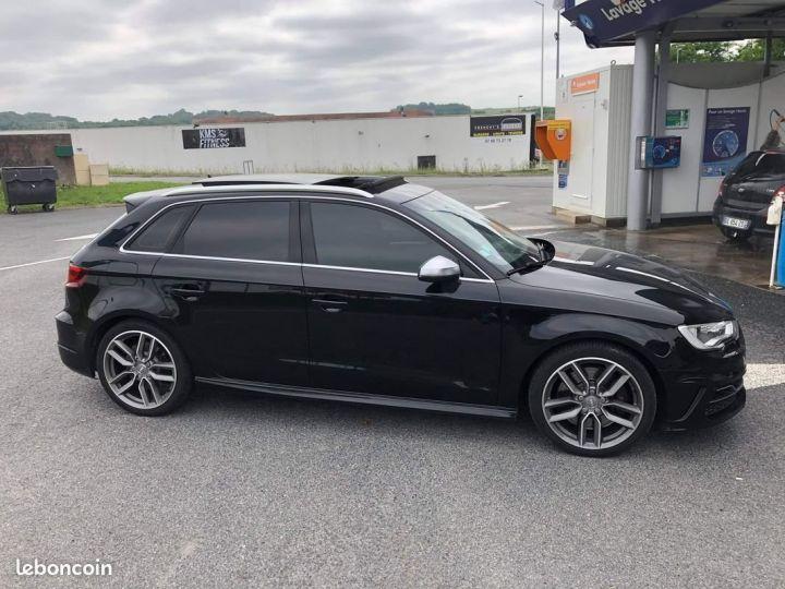 Audi S3 SPORTBACK 300ch / Toit Ouvrant / Keyless / Meplat / Sièges sport / Origine Française Noir métallisée  - 2