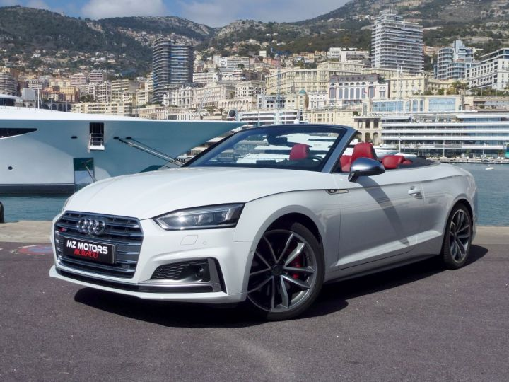 Audi S5 CABRIOLET 3.0 TFSI 354 QUATTRO TIPTRONIC 8 Blanc Glacier Occasion - 1