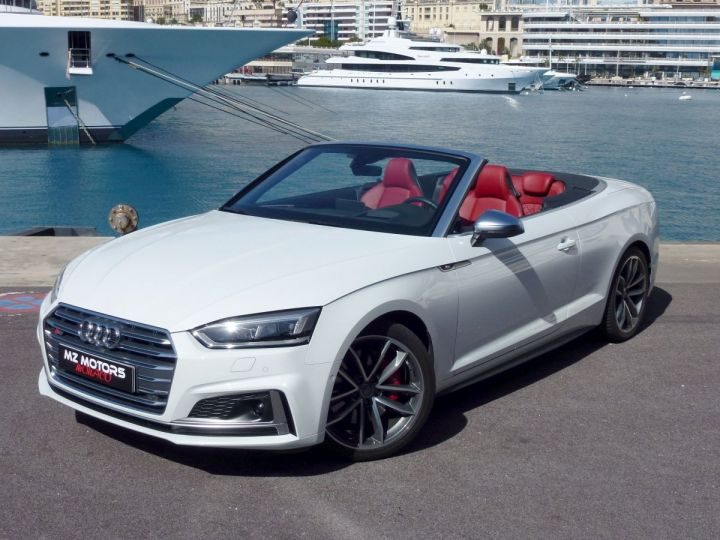 Audi S5 CABRIOLET 3.0 TFSI 354 QUATTRO TIPTRONIC 8 Blanc Glacier Occasion - 4