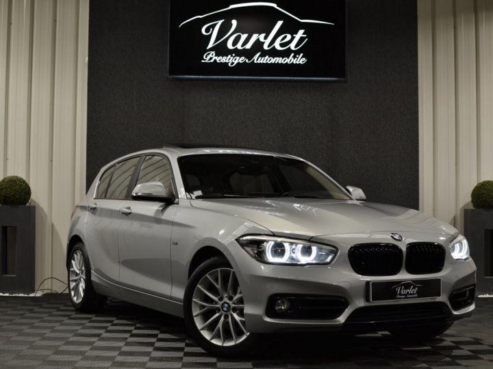 BMW Série 1 120D F20 LCI FINITION SPORT 2.0 190ch 1ERE MAIN GPS PRO CAMERA TOIT OUVRANT FULL LED... ENTR BMW GRIS GLACIER METAL - 1