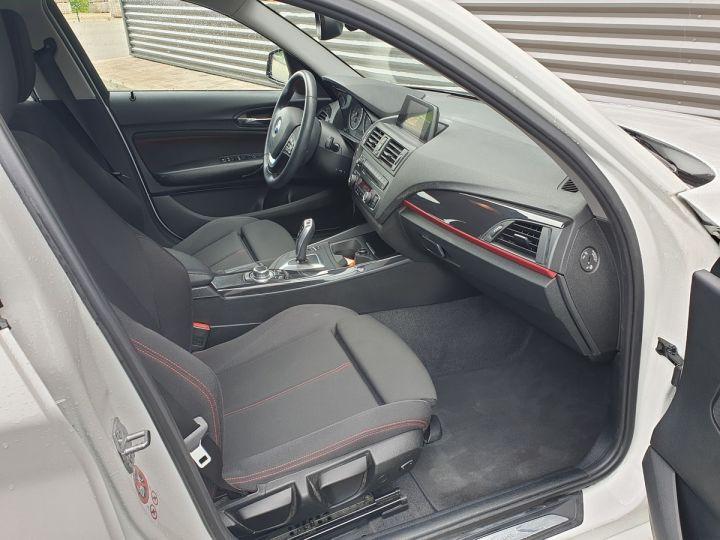 BMW Série 1 serie f20 118i 170 sport bva 8.5 portes Blanc Occasion - 10