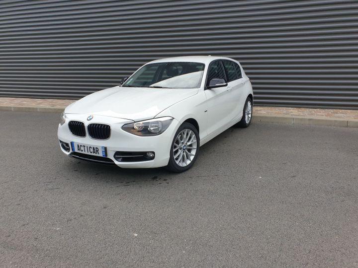 BMW Série 1 serie f20 118i 170 sport bva 8 5p Blanc Occasion - 1