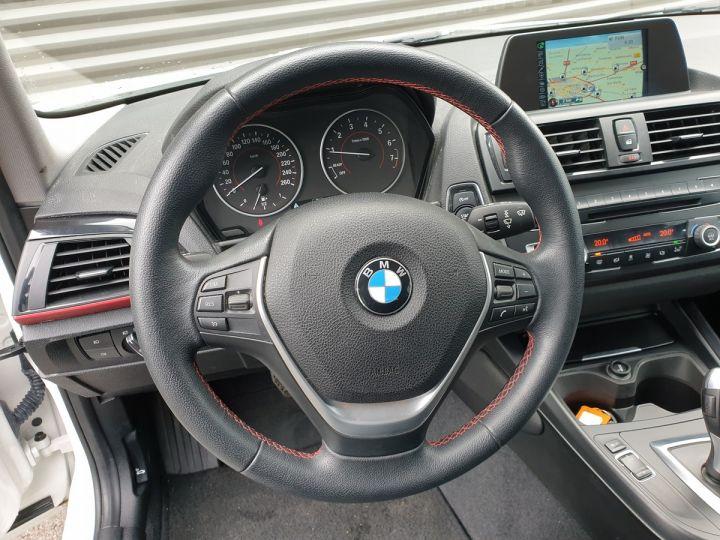 BMW Série 1 serie f20 118i 170 sport bva 8 5p ii Blanc Occasion - 9