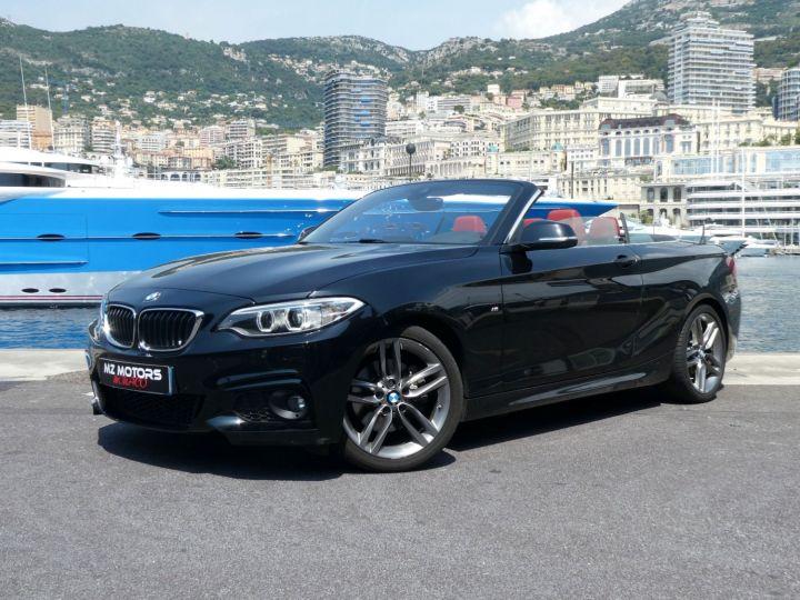 BMW Série 2 220 D CABRIOLET 190 CV M SPORT Noir Saphir Métal Occasion - 1