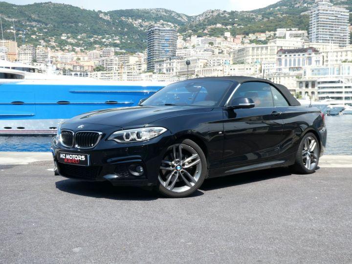 BMW Série 2 220 D CABRIOLET 190 CV M SPORT Noir Saphir Métal Occasion - 4
