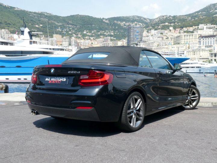 BMW Série 2 220 D CABRIOLET 190 CV M SPORT Noir Saphir Métal Occasion - 14