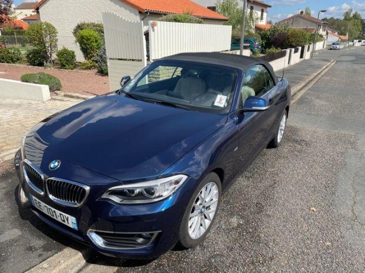 BMW Série 2 luxury bleu - 1