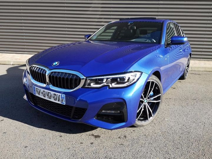 BMW Série 3 G20 330iA 258 M SPORT 07/2019 si Bleu Métallisé Occasion - 1