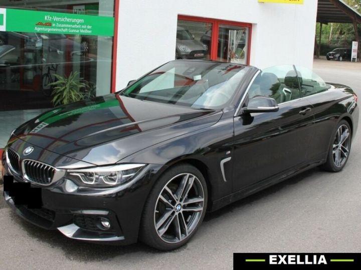BMW Série 4 420d Cabrio NOIR PEINTURE METALISE  Occasion - 1