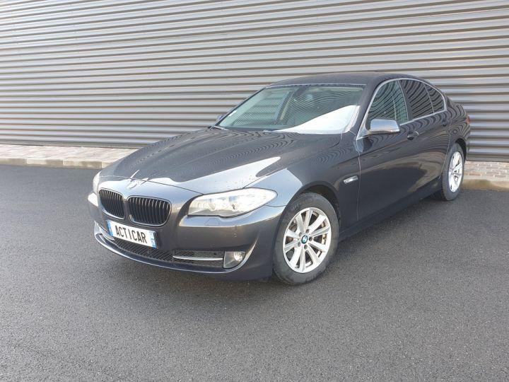 BMW Série 5 serie f10 520d 184 luxe bva i Gris Foncé Occasion - 1